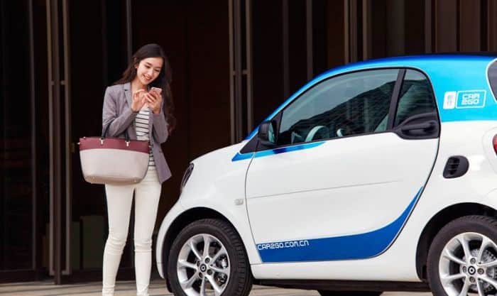 The Daimler-owned car2go car-sharing service in China